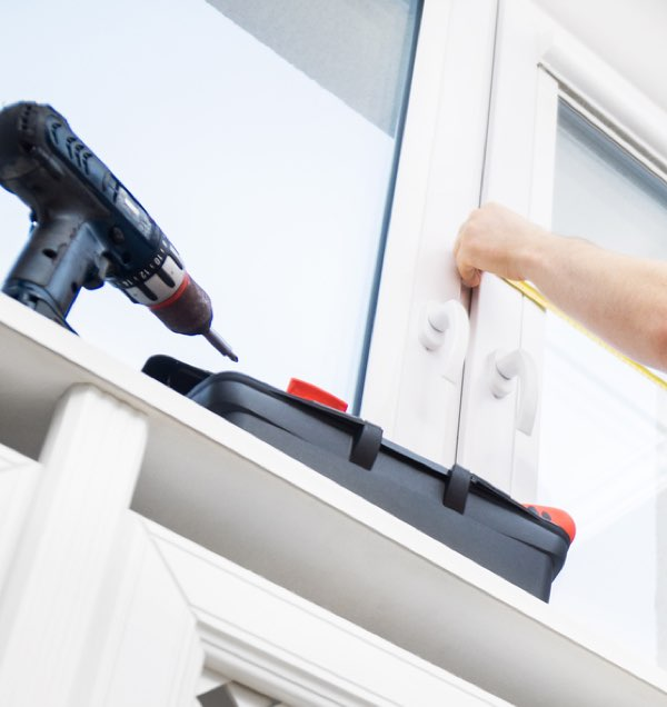 Black Nail Gun Fitting Window