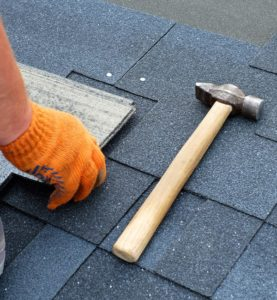 Hammer on roof mid repair